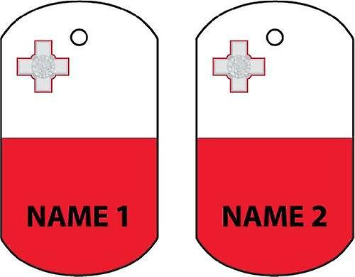 Personalised Malta Dog Tag Car Air Freshener