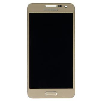 Display LCD complete set touch gold for Samsung Galaxy A3 A300 A300F