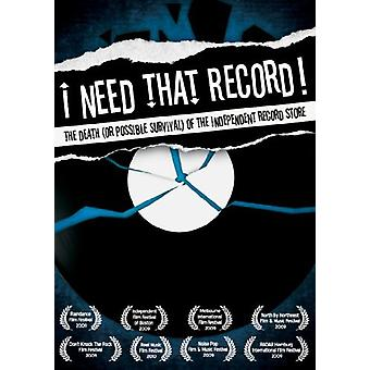 I Need That Record! the Death(or Possible Survival [DVD] USA import