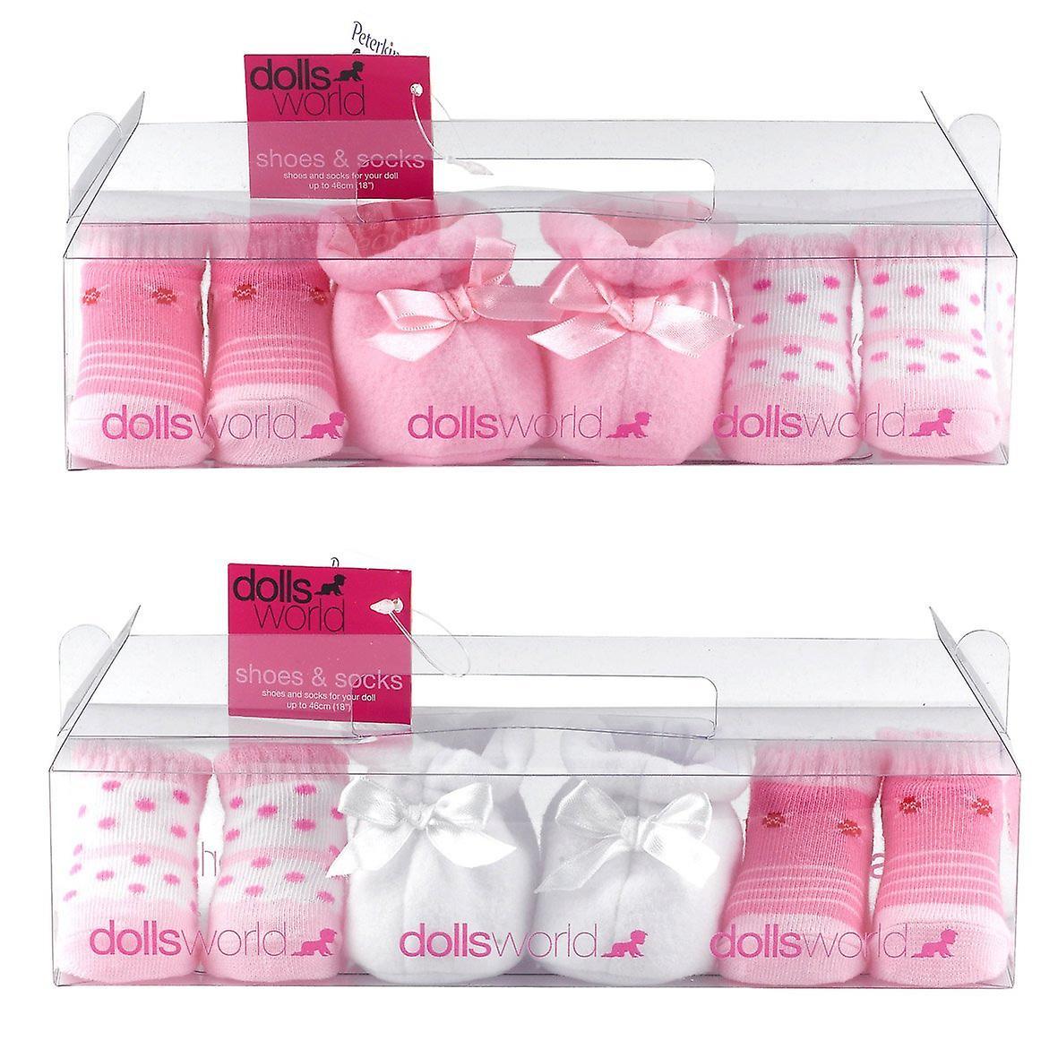 Dollsworld Shoes and Socks Gift Set