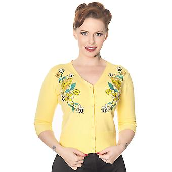 Banned - BUMBLE BEE FLOWER - Embroidered Cardigan, PLUS SIZES