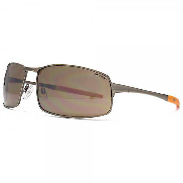 Animal Rip Square Metal Wrap Sunglasses In Light Antique Bronze