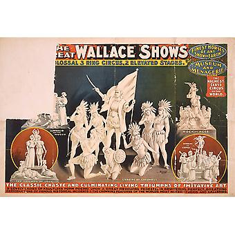 The Great Wallace Shows statues circus Poster Print Giclee