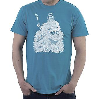 Barba poderoso camiseta Poseidón hombres