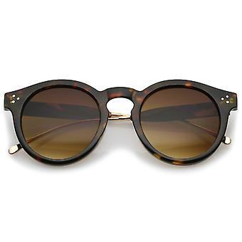 Metaal tempel Keyhole brug neutraal gekleurde Lens P3 ronde zonnebril 50mm