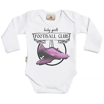 Spoilt Rotten Baby Girls Football Club Organic Babygrow