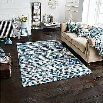 Chloe 608 B Blue  Rectangle Rugs Modern Rugs