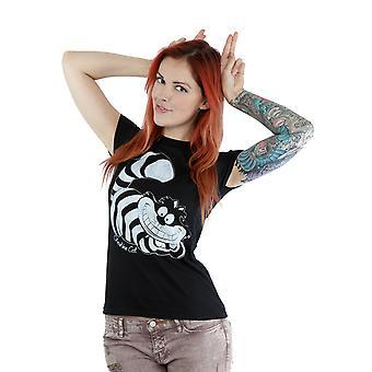 Disney Women's Alice in Wonderland Mono Cheshire Cat T-Shirt