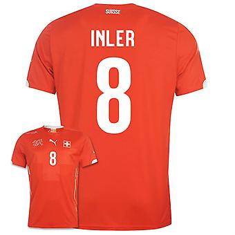2014-15 Zwitserland World Cup Home Shirt (Inler 8)