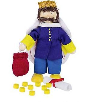 Goki Flexible puppet king (Toys , Dolls And Accesories , Miniature Toys , Mini Figures)