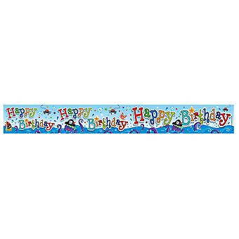 Expression Factory Childrens/Kids Happy Birthday Pirate Design Foil Party Banner