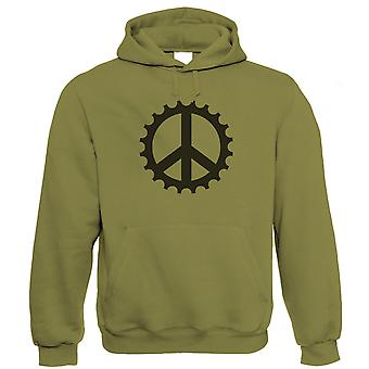 Vectorbomb, Frieden Cog, Mens Mountain Bike Hoodie (S bis 5XL)