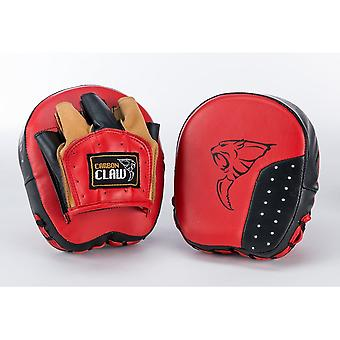 Carbon Claw Hook And Jab Pad-Speed - Red Black