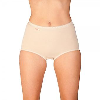 Camille Camille Womens Ladies Maxi Briefs Three Pack Beige Size 10-22