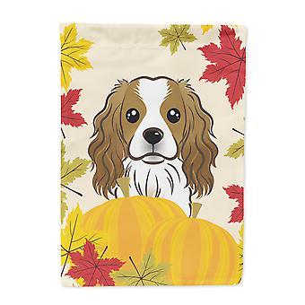 Cavalier Spaniel Thanksgiving flagg House lerretet
