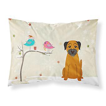 Christmas Presents between Friends Border Terrier Fabric Standard Pillowcase
