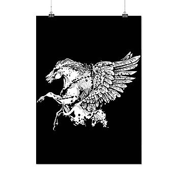 Matte or Glossy Poster with Fantasy Pegasus Horse | Wellcoda | *d1263