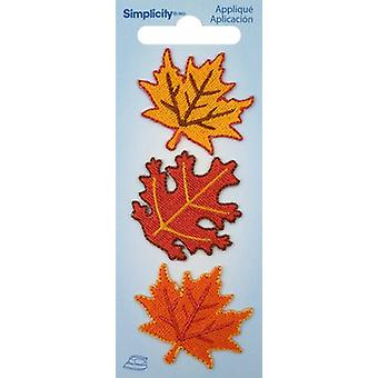 Wrights Iron-On Appliques 3/Pkg-Fall Leaves 193 9660