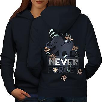 Nigdy nie zapomnę plecy NavyHoodie ładna kobieta zwierzęta | Wellcoda