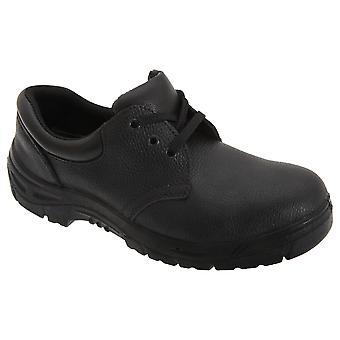 Grafters Mens 3 Eye Grain Leather Safety Toe Cap Shoes