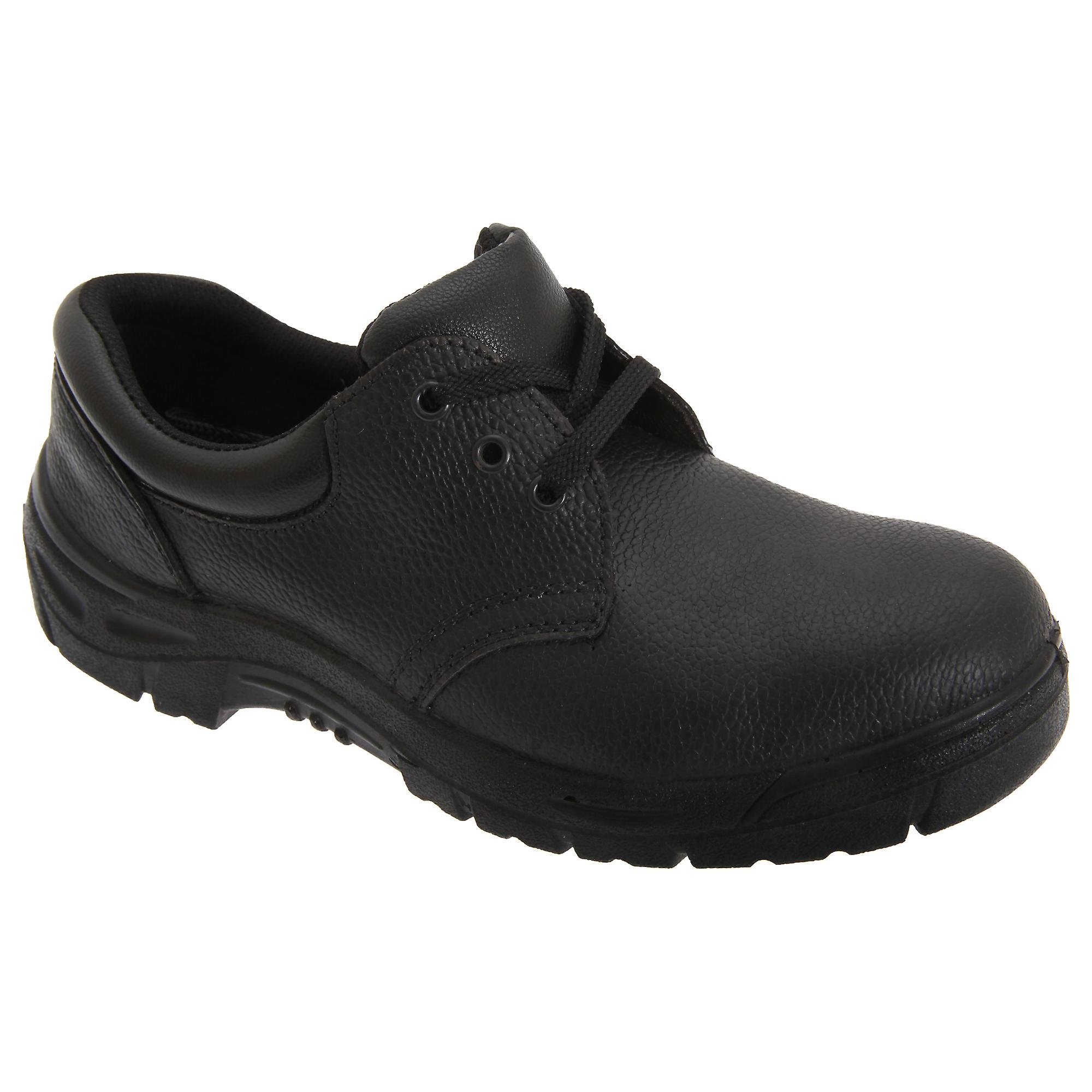 Grafters Leather Mens 3 Eye Grain Leather Grafters Safety Toe Cap Shoes 5b87ce