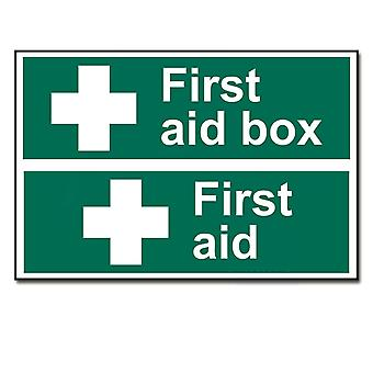 ASEC Self Adhesive First Aid Box Sign 300mm X 200mm