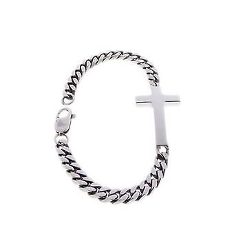 Silver bracelet with cross