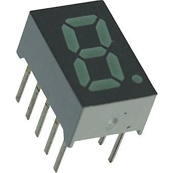 Seven-segment display Green 7.87 mm 2.1 V No. of digits: 1
