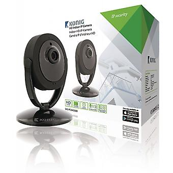 König HD Indoor fixed IP camera 1280 x 720 Black