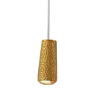 Metallic Hammered Gold Blind Pull