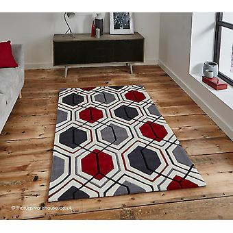 Aimo Cream Red Rug