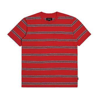 Brixton Hilt Washed Pocket T-Shirt Red Black