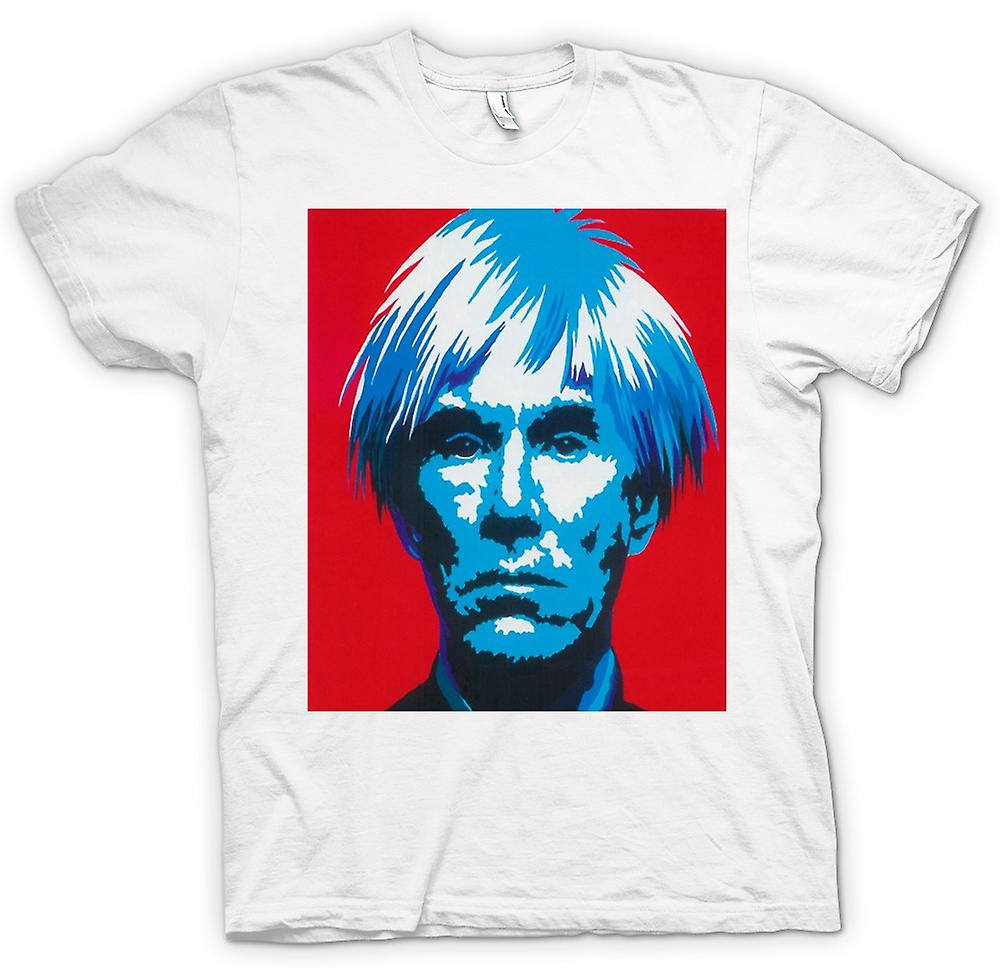 Womens T-shirt - Andy Warhol Blue Face - Pop Art