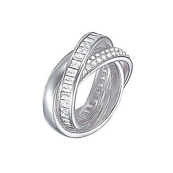 Esprit Damen Ring Edelstahl Silber Tridelia Zirkonia ESRG02258A1