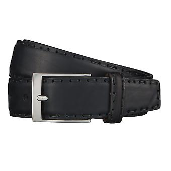 OTTO KERN belts men's belts leather belt black 4525