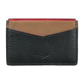 FOSSIELE mannen creditcard houder kaarthouder leather case zwart 4103