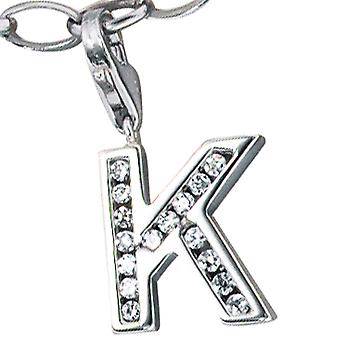 Single earrings-925 /-s K letter silver letter K pendant