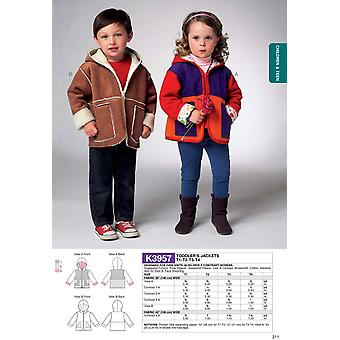 Toddlers'  Jacket-All Sizes in One Envelope -*SEWING PATTERN*