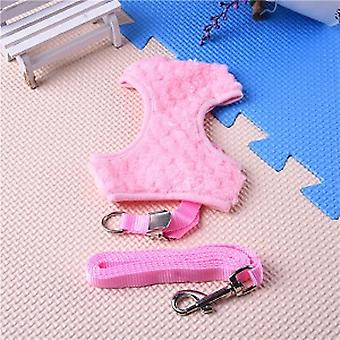 Pink Faux Fur Vest Harness & Lead Set