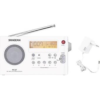 Sangean PR-D7 FM tragbares Radio AM, FM White