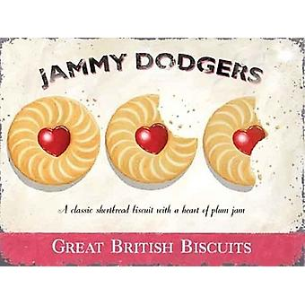 Jammy Dodgers Large Steel Sign 400Mm X 300Mm