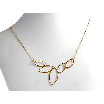 Ladies necklace gold plated leaves necklace ladies silver gold plated