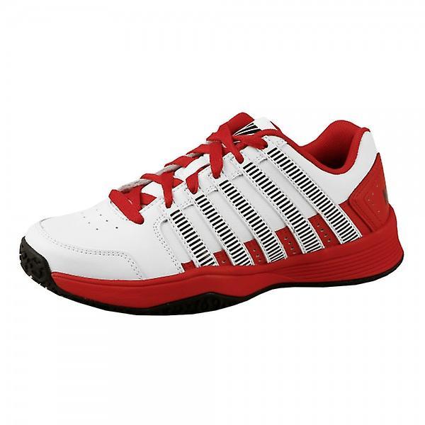 K-Swiss Court d'impact intérieur (tapis) LTR enfants blanc chaussure de tennis
