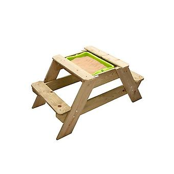 TP Toys Early Fun Wooden Picnic Table Sandpit Seats 2