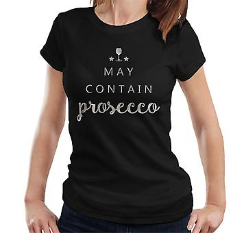 Enthalten Prosecco Weihnachten Damen T-Shirt