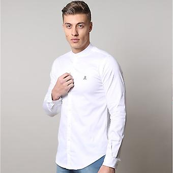 Life and Limb Long Sleeve Grandad Stretch Sateen Mens Shirt