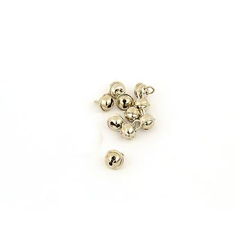 SALE -  100 Silver 19mm Cat Bell Style Jingle Bells for Crafts