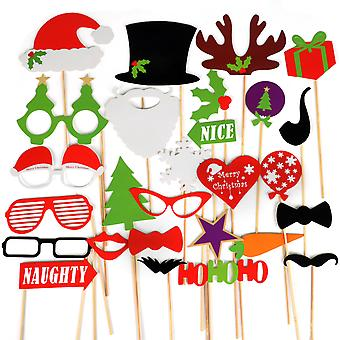 TRIXES divertente Natale foto Party Prop maschere assortite