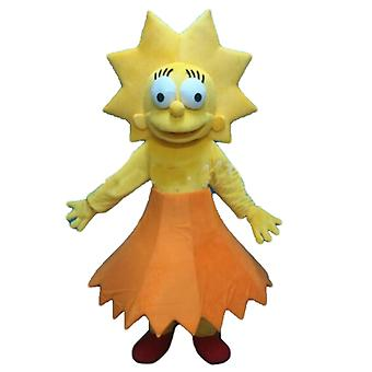 mascot Lisa Simpson SPOTSOUND, famous girl from the Simpsons