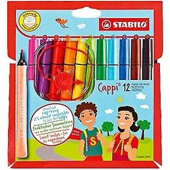 Stabilo felt-tip pens cappi pouch 12 STS